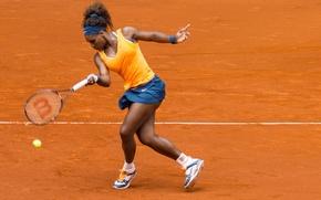Обои теннис, корт, Serena Williams