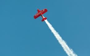Картинка красный, дым, Самолет, red, smoke, airplane, оракул, oracle