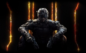 Картинка оружие, пистолеты, солдат, шлем, броня, железо, Treyarch, Activision Publishing, Call of Duty: Black Ops 3