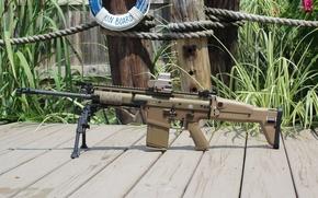 Картинка оружие, автомат, сошки, FN SCAR 17S, коллиматорный прицел, eo tech