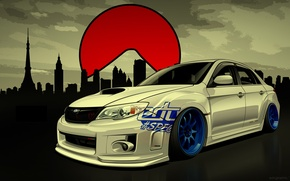 Картинка Subaru, Impreza, WRX, STI, Субару, Импреза, Drift Spec Vector, by Edcgraphic