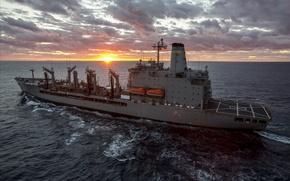 Картинка waves, metal, soldiers, ocean, military, cloud, sun, man, sunrise, american, flag, boats, mare, US Navy, …