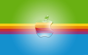 Картинка полосы, Apple, радуга, лого