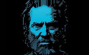 Картинка борода, tron, TRON: Legacy, Джефф Бриджес, Jeff Bridges