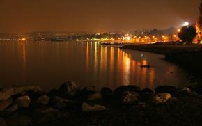 Картинка ночь, побережье, Италия, Italy, night, Italia, Lombardia, Ломбардия, Монига-дель-Гарда, Moniga del Garda