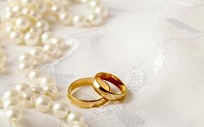Картинка кольца, жемчуг, свадьба, background, ring, soft, wedding, lace, perls