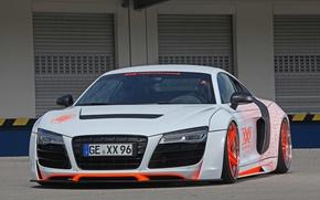 Картинка Audi, Orange, wheels, White, XXX Performance, r8