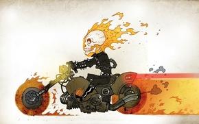 Картинка череп, мотоцикл, гонщик