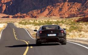 Обои дорога, ferrari, 599gtb