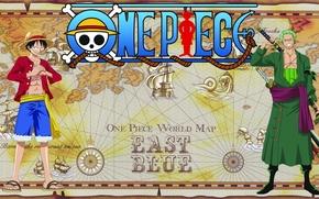 Картинка skull, sword, game, One Piece, hat, smile, anime, katana, man, boy, captain, ship, asian, manga, ...
