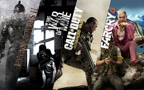 Картинка Call of Duty, Dragon Age, Far Cry 4, this war of mine
