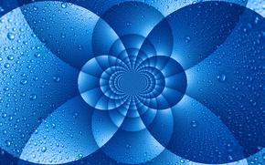 Картинка вода, капли, макро, узор, дуга, симметрия