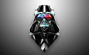 Картинка абстракция, минимализм, star wars, Darth Vader, дарт вейдер