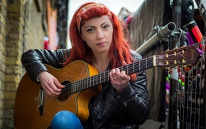 Картинка музыка, женщина, гитара