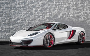 Картинка McLaren, red, white, MP4-12C