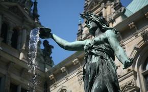 Обои Германия, вода, фонтан, статуя
