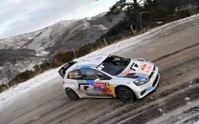 Картинка volkswagen, rally, wrc, polo, 2013, monte-carlo