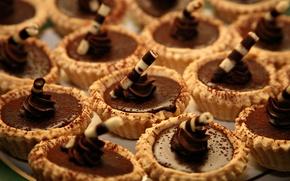 Обои много, пирожные, шоколад, десерт