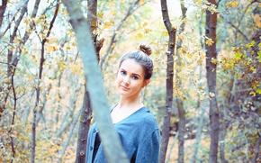 Картинка girl, autumn, woodland