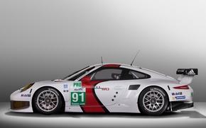 Картинка фон, вид, 911, Porsche, сбоку, RSR, гоночный кар