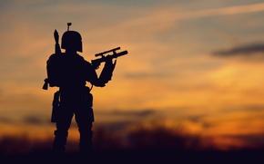 Картинка игрушка, Star Wars, статуэтка, Звездные Войны, охотник, наемник
