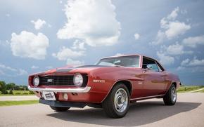 Картинка Chevrolet, 1969, Camaro, red