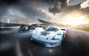 Обои Car, Front, Martini, Racing, Vision, Porsche