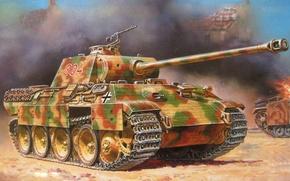 Картинка обои, пантера, танк, PzKpfw V Ausf A