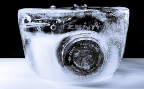 Обои зенит, фотоаппарат, лёд