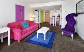 Картинка цвета, дизайн, диван, дверь, Design, спальня, Interior, Living