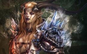 Картинка glass, armor, women, warrior, fantasy art