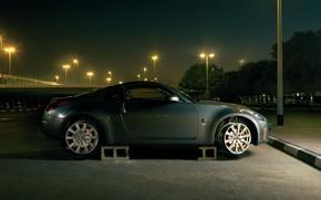 Обои авто, ночь, без колес