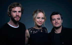 Картинка Jennifer Lawrence, Голодные игры, The Hunger Games, Josh Hutcherson, Liam Hemsworth, главные роли