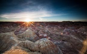 Картинка солнце, горы, пустыня, Китай, photo by Ronald Cheung