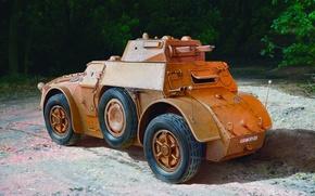 Картинка war, art, painting, Armoured Cr Autoblinda BA 40