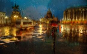 Картинка осень, дождь, Санкт-Петербург, ноябрь