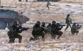 Картинка оружие, армия, солдаты, учения