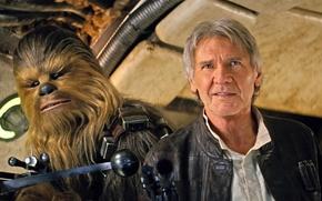 Обои Звёздные войны, фон, Хан Соло, Episode VII, Chewbacca, The Force Awakens, Эпизод 7, Star Wars, ...