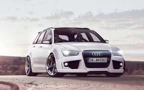 Картинка Audi, белая, диски