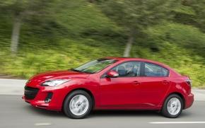Картинка красный, скорость, Mazda, Red, 2013