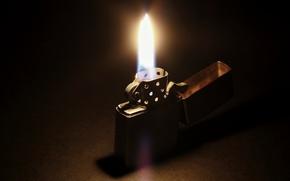 Картинка Zippo, light, fire, darkness, lighter