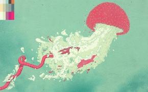 Картинка рисунок, Медуза