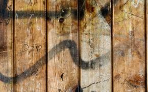 Картинка wood, pattern, letters, spray paint