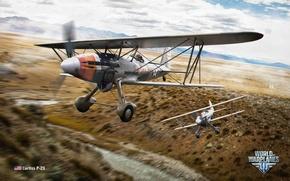 Картинка США, биплан, Wargaming.net, World of Warplanes, P-23