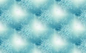 Картинка фон, праздник, текстура, Новый год, снежинка