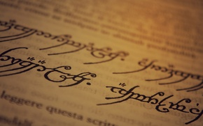 Обои writing, J. R. R. Tolkien, Sindarin, paper, The Lord of the Rings, ink