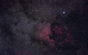 Картинка космос, звезды, Туманность Пеликан, Северная Америка