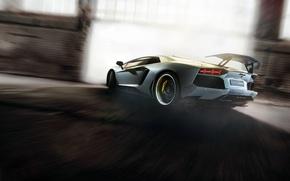Картинка car, supercar, tuning, ламборгини, автообои, Lamborghini Aventador, hq wallpaper, novitec torado