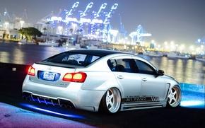 Картинка car, ночь, тюнинг, tuning, лексус, stance, Lexus GS300
