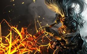 Обои оружие, арт, Dark Souls 0, Nameless King